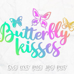 Butterfly Kisses Vector Clipart SVG File for Cricut