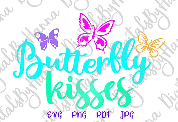 Butterfly Kisses Vector Image SVG File for Cricut