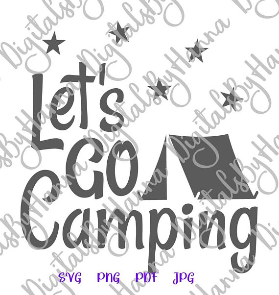 Camping Clipart Sign Décor Cuttable Shirt Decal Heat HTV Cutting