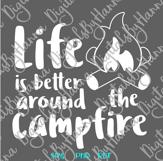 Camping Vector Clipart SVG File for Cricut