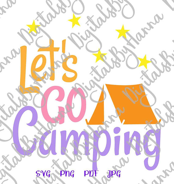 Camping Wall Decal Die Cut Iron on Vinyl Card Making