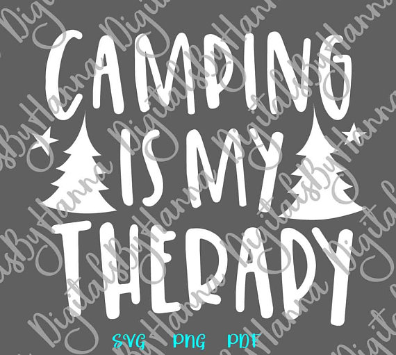 Camping is my Therapy Scrapbook Ideas Files for Laser Shirt