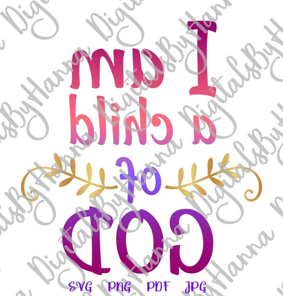 Child of God Religious SVG