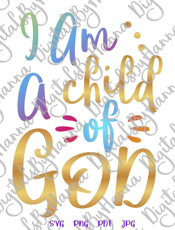 Child of God Scrapbook Ideas Files for Laser Shirt