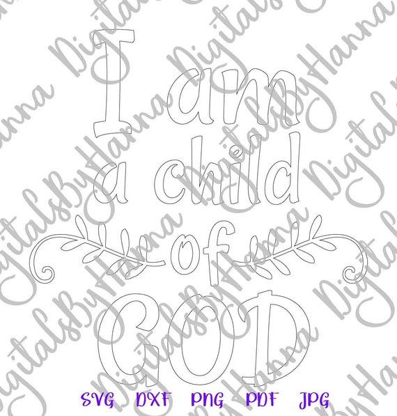 Child of God Silhouette DXF Digital Clipart Gift