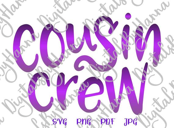 Cousin DIY Instant Download Die Cut Iron on Vinyl Card Making