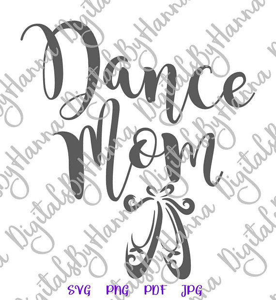 Dance Mom Ballet Cuttable Shirt Decal Heat Cutting