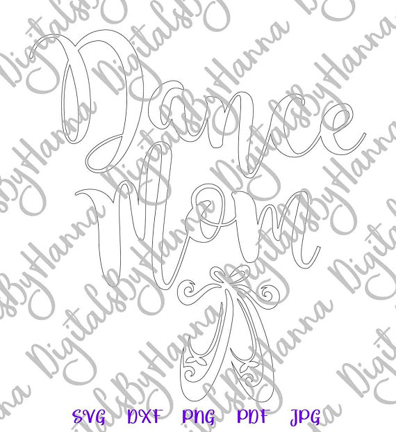 Dance Mom Ballet Silhouette DXF Digital Clipart Gift