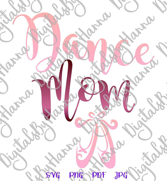 Dance Mom Ballet Vector Clipart SVG File for Cricut Cutting