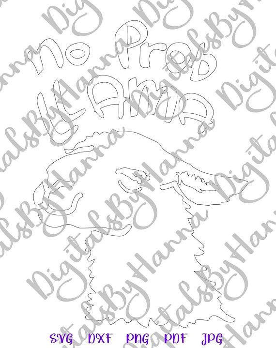 Drama Llama Shirt Silhouette DXF Digital Clipart Gift