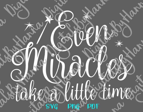 Even Miracles SVG Scrapbook Ideas Files for Laser Shirt
