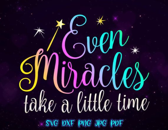 Even Miracles Vector Clipart Newborn SVG Files for Cricut