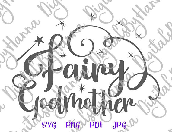 Fairy Godmother Cuttable Shirt Decal Heat HTV Cutting