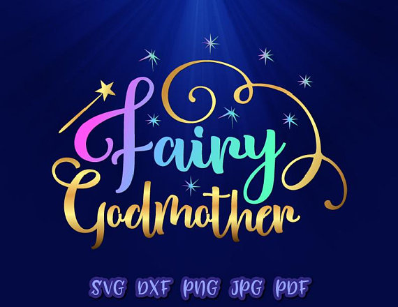 Fairy Godmother Vector Clipart SVG File for Cricut