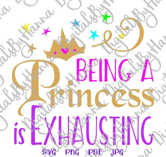 Girl Quote Princess Vector Clipart SVG File for Cricut Gift