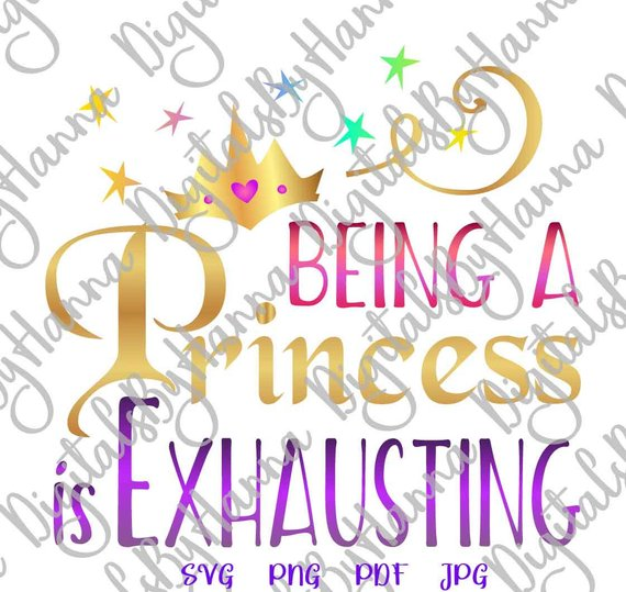Girl Quote Princess Visual Arts Stencil Maker Papercraft