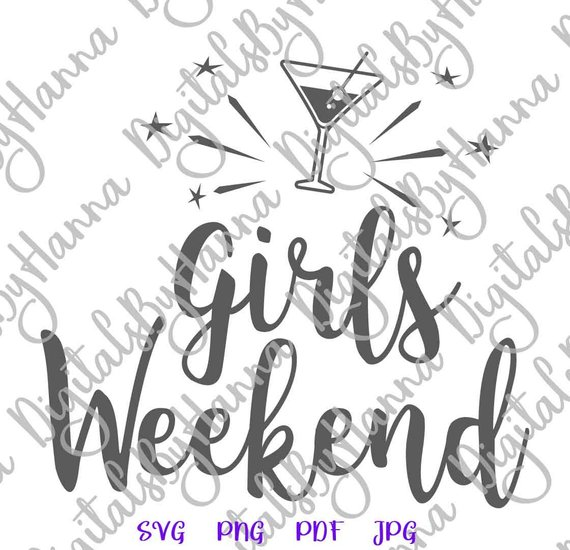 Girls Weekend Baby Cuttable Shirt Decal Heat Cutting