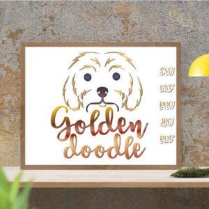 Golden Doodle Vector Clipart SVG Files for Cricut