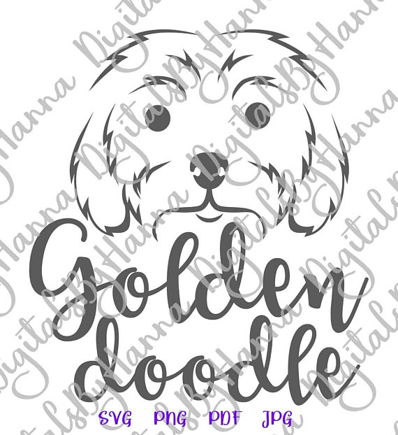Goldendoodle Face Pregnant SVG Files for Cricut