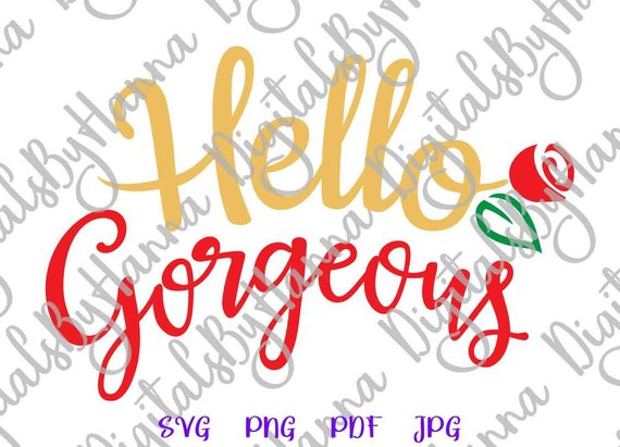 Good Morning Georgeous Vector Clipart SVG File for Cricut