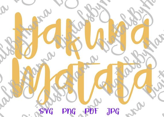 Hakuna Matata Nursery Vector Clipart SVG File for Cricut