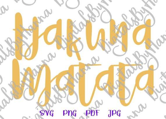 Hakuna Matata Nursery Vector Clipart SVG File for Cricut