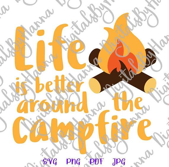 Happy Camper SVG Visual Arts Stencil Maker Papercraft