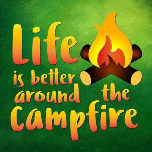 Happy Camper Vector Clipart SVG File for Cricut