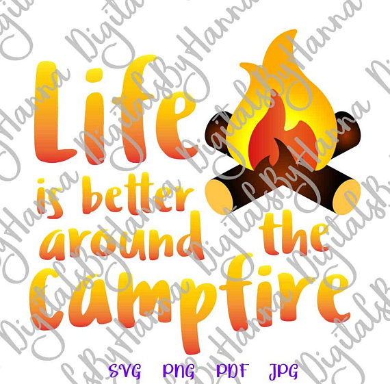 Happy Camper Vector Clipart SVG File For Cricut Gift