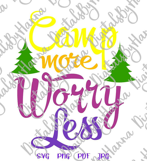 Happy Camper SVG Files For Cricut Camp More Worry Less Wall Decal