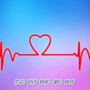 Heartbeat Ekg SVG Cardiogram Pulse Rhythm Vector Clipart