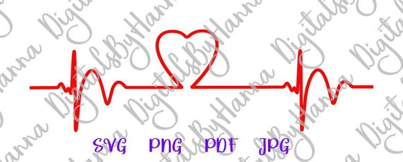 Heartbeat Ekg SVG Cardiogram Pulse Rhythm Visual Arts Papercraft