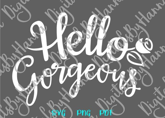 Hello Georgeous Scrapbook Ideas Files for Laser Shirt