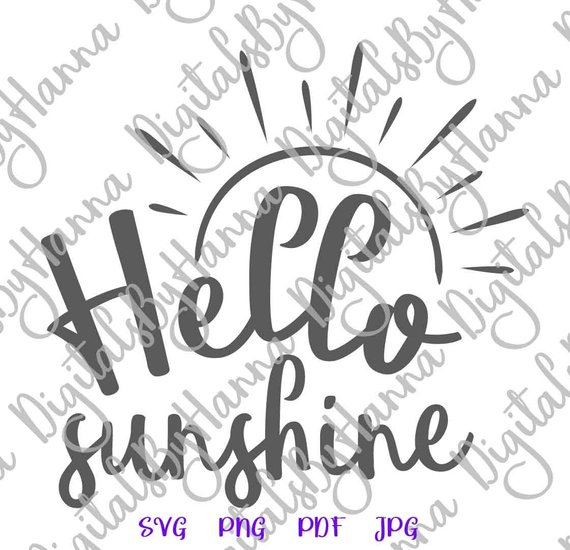Hello Sunshine Baby Cuttable Shirt Decal Heat Cutting