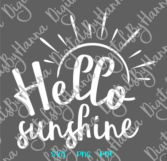 Hello Sunshine Scrapbook Ideas Files for Laser Shirt Applique