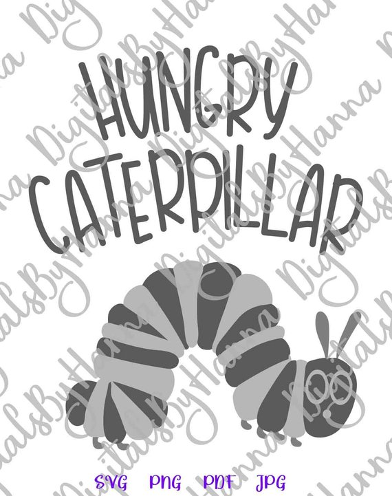 Hungry Catterpillar Cuttable Shirt Decal Heat HTV Cutting