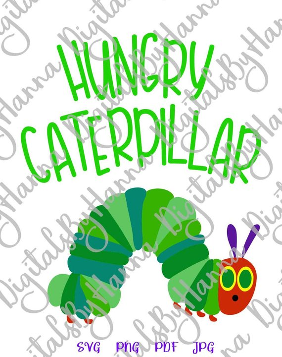 Hungry Catterpillar Invitation Iron on Vinyl Card Making