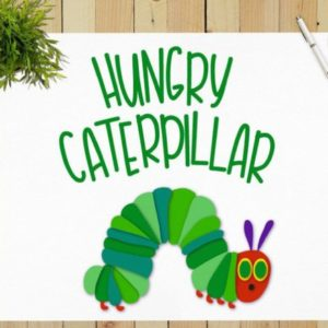 Hungry Catterpillar Vector Clipart SVG File for Cricut