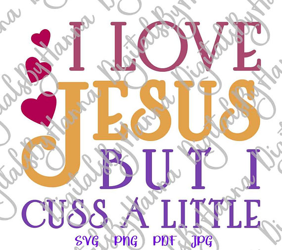 I Love Jesus Vector Clipart SVG File for Cricut