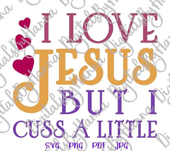 I Love Jesus Vector Clipart SVG File for Cricut