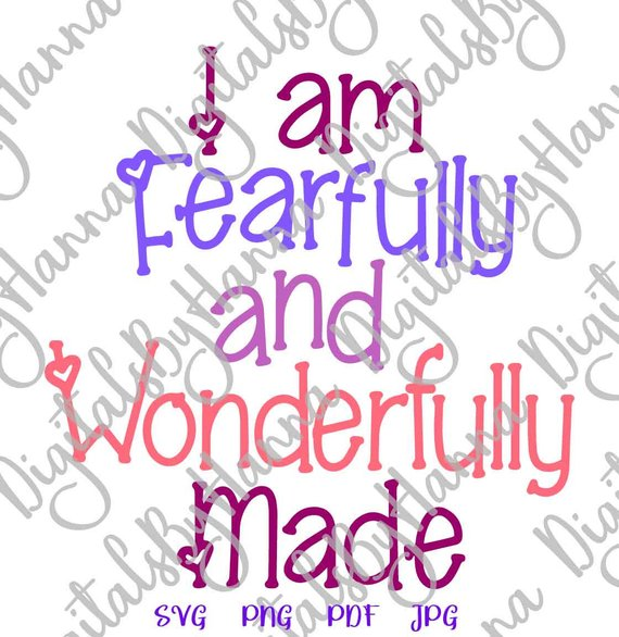 I am Fearfully & Wonderfully Vector Clipart