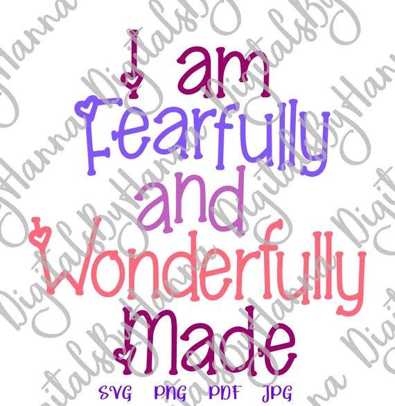 I am Fearfully & Wonderfully Vector Clipart