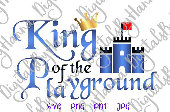 King of Playground Instant Download Die Cut Iron on Vinyl Card Making