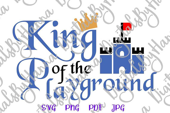 King of Playground Vector Clipart SVG File for Cricut