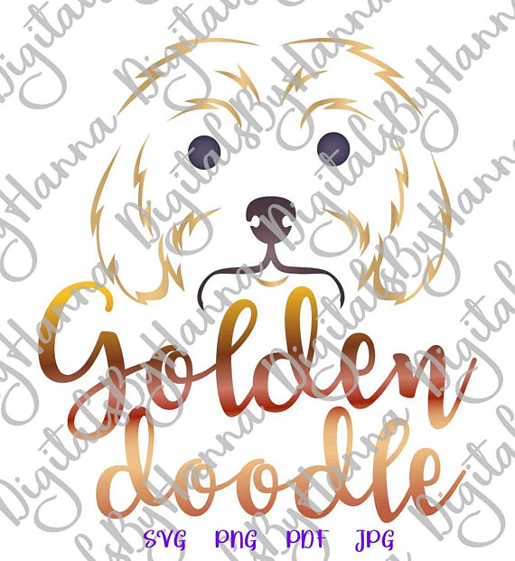 Labradoodle Lover Clipart Die Cut Iron on Vinyl Card Making