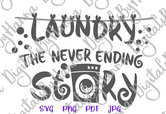 Download Laundry Room Vector Clipart SVG Files for Cricut Never ...