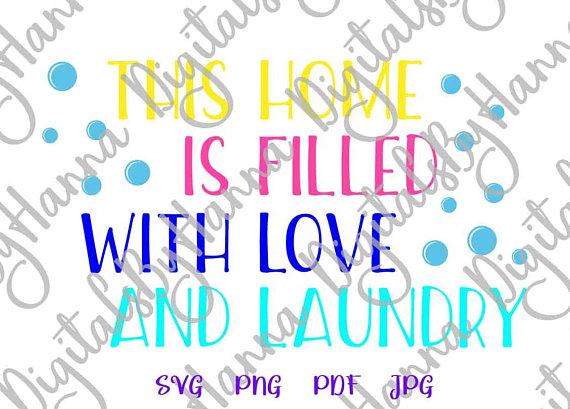 Laundry Room Instant Download Die Cut Iron on Vinyl Card Making