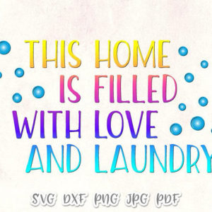 Laundry Room Vector Clipart SVG File for Cricut