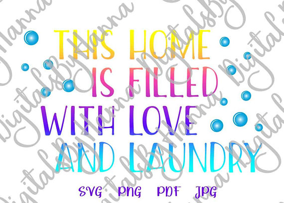 Laundry Room Vector Clipart SVG File for Cricut Gift