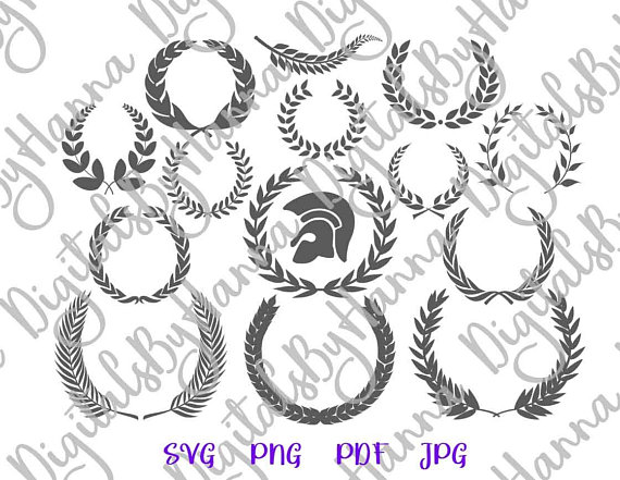 Laurel Wreath Cuttable Shirt Decal Heat HTV Cutting